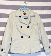 Merona Womens Trench Coat Khaki Tan Small Jacket New No Tags Career Casual Wear