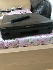 More details for sony laserdisc player mdp a500 ntsc auto reverse + assorted laserdisc films