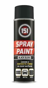 Spray Paint Aerosol Auto Car Primer Matt Gloss Metallic Wood Metal Plastic Can