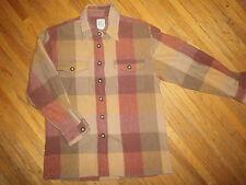 vtg Field Gear Plaid Wool Shirt Jacket Wool Blend Flannel Hunter Lumberjack Hip