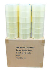 "36 Rolls Clear 2 Mil Carton Shipping Box Sealing Packing Tape 2"" x 110 Yards"