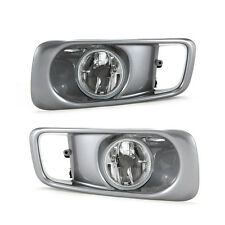 Clear Fog Lights for 1999-2000 Honda Civic Sedan Coupe with Bezel Switch Wiring