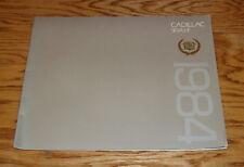 Original 1984 Cadillac Seville Sales Brochure 84