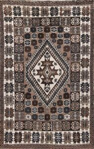Vintage Geometric Moroccan Oriental Area Rug Wool Hand-knotted Foyer Carpet 5x7