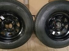 2 - NEW 530X12  4 PLY HIGH SPEED TRAILER TIRE & WHEEL ASSEMBLIES 5 HOLE- LOWEST$