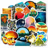 50PCS Outdoor Scenery Graffiti Skateboard Stickers Bomb Laptop Luggage Decals