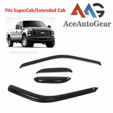 AAG Window Visor Sun Rain Guard For 1999-2016 Ford F-250 SuperCab Extended Cab