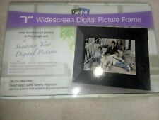 """OPEN BOX/NEW GIINII 7"""" WIDESCREEN DIGITAL PICTURE FRAME GN-702W GN702W"""
