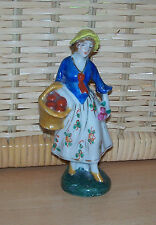 PORCELAIN FIGURINE - LADY CARRYING BASKET OF FRUIT