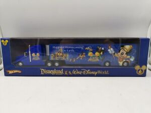 Hot Wheels Disneyland Disney World 50th Anniversary Semi Tracter Trailer B7677