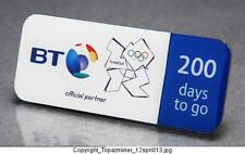 OLYMPIC PINS 2012 LONDON ENGLAND UK BT SPONSOR 200 DAYS TO GO COUNTDOWN