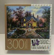 "NIB! Milton Bradley Secret Cottage 300 Pc EZ Grasp Jigsaw Puzzle 18"" X 24"