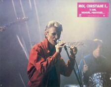 DAVID BOWIE CHRISTIANE F. WIR KINDER VOM BAHNHOF ZOO 1981 LOBBY CARD #1