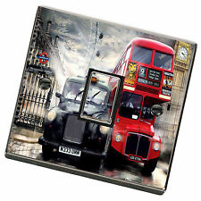 London Bus & Taxi Light Switch Cover,Skin,Sticker.Decal Any Room