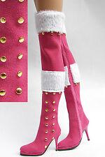 Ellowyne Wilde Pink Suede Fashion High Boots