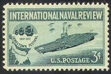 USA 1957 NAVI PORTAEREI// Barche/Blu Marino/PARATA navale/trasporto 1v (n24375)