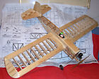 """Berkeley SUPER ZILCH PLAN To Build a 52"""" Span Old Time UC Stunt Model Airplane"""