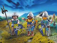 Playmobil Trois Chevaliers de Novelmore 9836 Addon Figurines Neuf