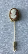 Vintage Gold Tone Cameo Hat Pin