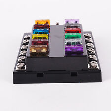 Universal Car Boat 12 Way Circuit Standard Ato Blade Fuse Box  Block Holder