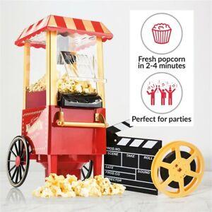 Popcorn Maker Fat-Free Hot Air Carnival  Popper Machine Retro 30's Style Healthy