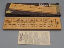 Milton Bradley E.S. Lowe Wooden Cribbage Board #1503