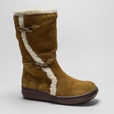 Zip Suede Wedge Mid-Calf Boots for Women