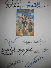 The Sandlot Signed Film Script X9 Denis Leary Marley Shelton James Earl Jones RP