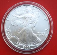 "Amerika: 1 Uz.-Oz ""Silver Eagle""  2007 Seidenmatt, ST-BU,  #F 2032"