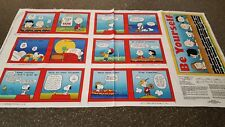 Tips From The Gang Book Panel 23x42 Quilting Treasures Peanuts Blocks