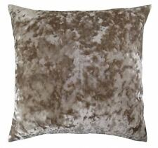 """LUXURIOUS OYSTER BEIGE CRUSHED VELVET THICK SOFT CUSHION COVER 20"""" - 50CM"""