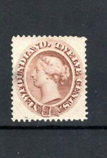 Canada - Newfoundland 1865-70 12c red-brown MH