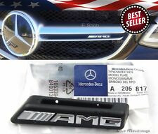 15-UP Chrome AMG Radiator Grill Emblem Model Plate For Mercedes W205 C-Class C63