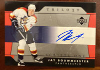 Jay Bouwmeester Autograph Signature Florida Panthers Hockey Card