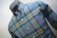 41800 Mens Polo Ralph Lauren Custom Long Sleeve Plaid Dress Shirt Size Medium
