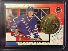 Wayne Gretzky 1997-98 Pinnacle Mint Die-Cut Card with Brass Coin #18