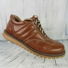 Alfani men's size 8 oxford leather lace up brown hiking walking shoes Italy made