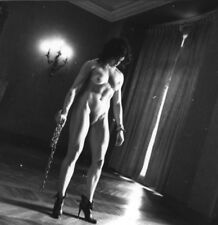 Helmut Newton Nude of Lisa Lyon with Chains, Paris 1980