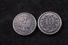 Poland Polish 10 Grosz 2009 Republic Coin zł Eagle gr