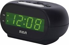 Rca Led Display Alarm Clock With Snooze Night Light and Battery Backup System