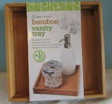Ginsey Home Solutions Bamboo Toiletry tray,Spa/Bath Accessory,NEW