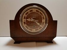 Vintage Enfield Wooden Mantel Clock Early 1930's