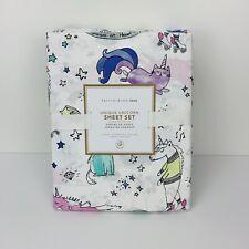 Pottery Barn Teen Unique Unicorn Sheet Set Organic Cotton Twin XL