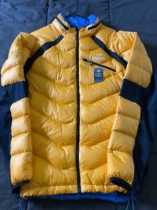Men's Eider Down Jacket - Orange - Size XL - 063