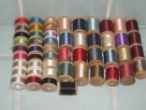 50 Spools Vintage Silk Thread Sewing Fly Fishing Belding Corticelli Talon