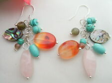 Agate Turquoise Agate  Earrings