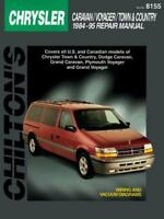 Dodge Caravan, Voyager, and Town & Country, 1984-95 (Chilton's Total Car Care Re