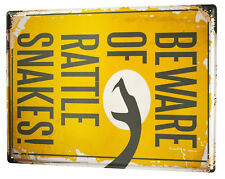 Tin Sign Fun  Rattlesnake