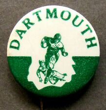 "1940's to 1950's DARTMOUTH Illustrated football large size 1.5"" pinback button ^"