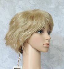 Short Thick Shaggy Light Golden Blonde w/Dark Brown at Nape Synthetic Wig - #23